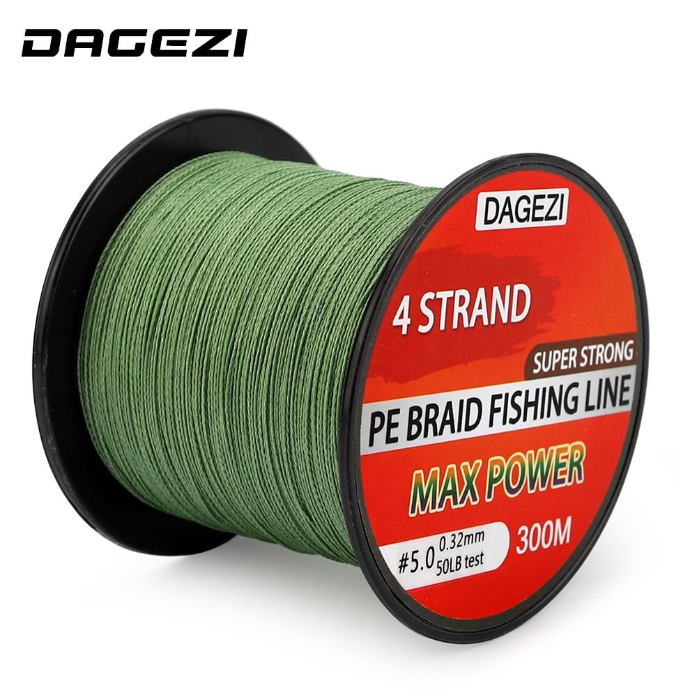 DAGEZI 10-80LB 4 حبلا ينسج خط الصيد مضفر 300 - صيد السمك
