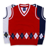 2017 New Design Boys Vest Cardigan Sweater Brand Preppy Style Boys Autumn Knitted Vest Coat Boys