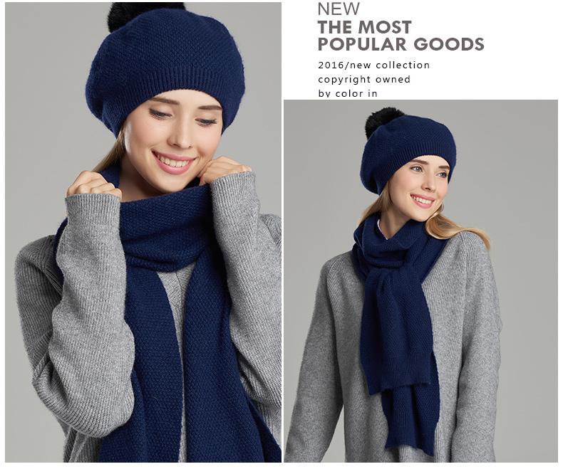 bonnets écharpe haute qualité Chic Pour Femmes