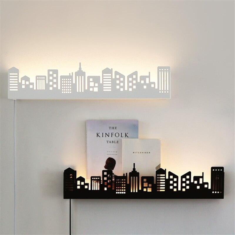 Светодиодный настенный светильник Бра В Белый Гостиная свет проходу Задний план Лестницы бра чтения Бра украшения свет fixtu ...