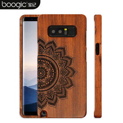 the best attitude 70614 b5b17 US $14.99 |Original Wood Case For Samsung Galaxy Note 8 Hard Carved Pattern  Retro Coque Protective Back Cover Cases For samsung note 8 -in Fitted ...