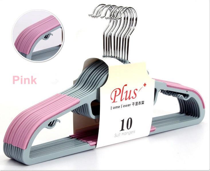 Sorplus Magic Plastic hanger for Clothes / 10 Colors/ 100% High Quality Ensure (2sets/ Lot)