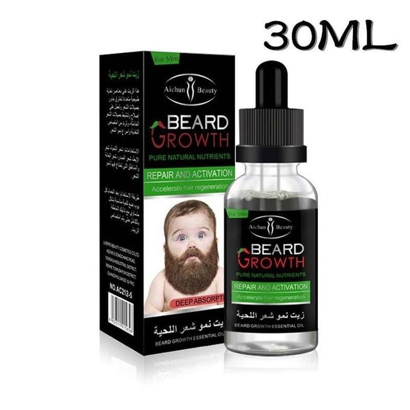 30ml Natural Organic Beard Oil Beard Wax balm Hair Loss Products Leave-In Condit