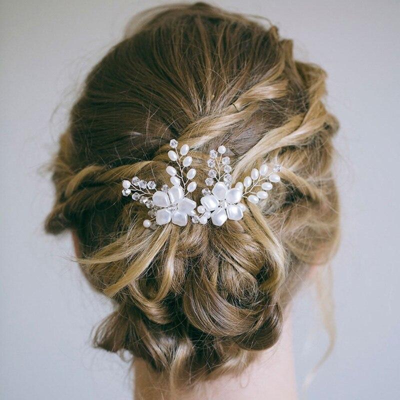 Vip Luxury Rhinestone Hair Clip gold and dark silver 2pcs set