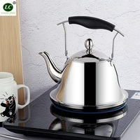 Water Kettle Luxury Fashion Thickened stainless steel teapot Filter flower teapot Hotel Induction furnace Fire Boiled teapot