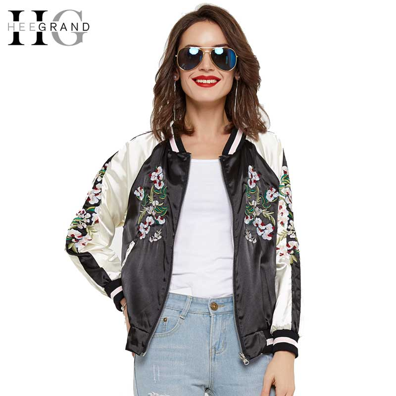 HEE GRAND 2018 Printemps Veste Femmes De Mode Broderie De Base Manteau Court  Casacos Mulher Bomber Outerwears Jaqueta Feminina WWJ789 d7711eb99611