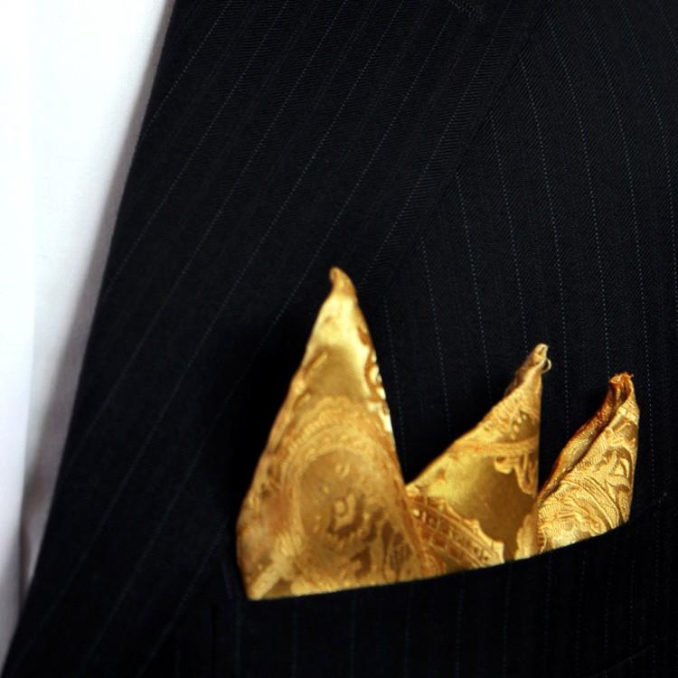 HTB1vt42JFXXXXbZXFXXq6xXFXXXA - Gold Silk Paisley Pattern Pocket Square