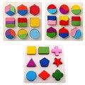 Geometría Montessori Rompecabezas de Aprendizaje Temprano Para Niños De Madera Del Bebé Juguetes Educativos Rompecabezas Envío Gratis
