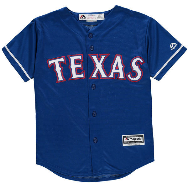 MLB Youth Texas Rangers Baseball Royal Alternate Cool Base Jersey