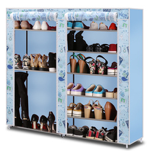 Simple shoe dorm double capacity with a dust cloth cover assembly special offer