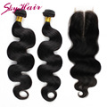 indian virgin hair body wave 2 bundles with closure queen hair products with closure bundle indian virgin hair with closure