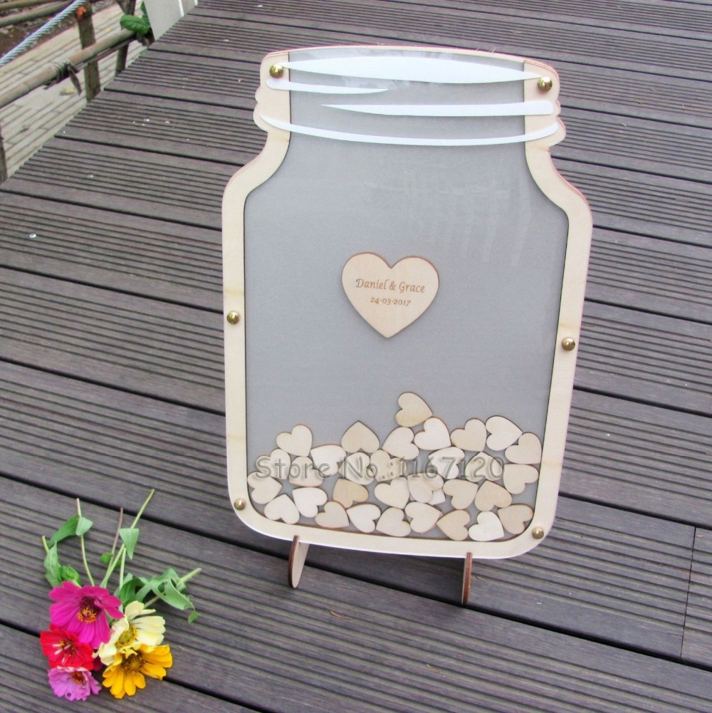 Customs Personalized Wedding Guest Book Drop Box Guest