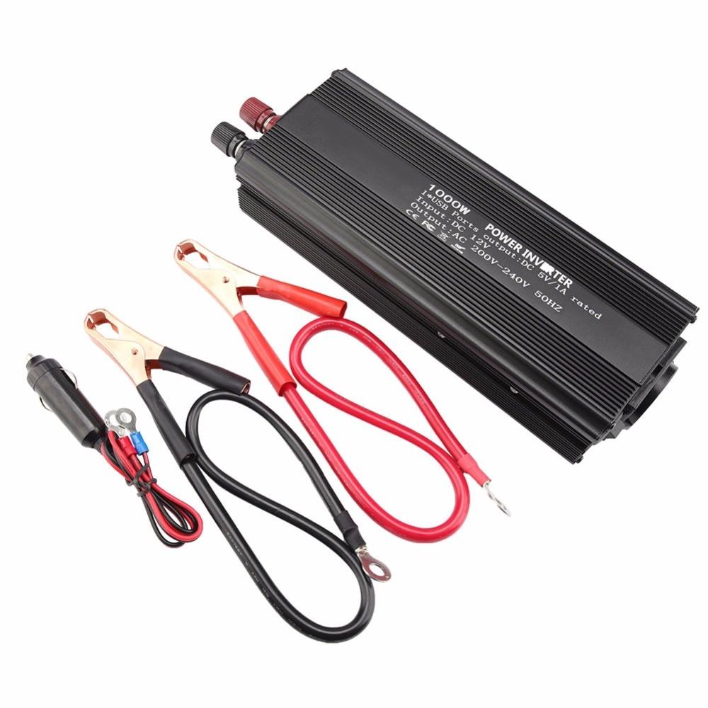 Practical Pure Sine Wave Inverter 10 15 V Converter 220V 1000W Power Inverter with Solar Panel