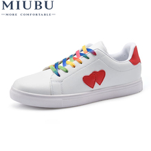 MIUBU Creepers Platform White Shoes Women Trainers Fashion Classic Couples Breathable Black Lovers Tenis Zapatillas