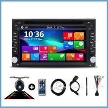 Neue universal Autoradio 2 Din Auto Dvd GPS Navigation In schlag Auto PC Stereo Head Unit video + Free Karte subwoofer