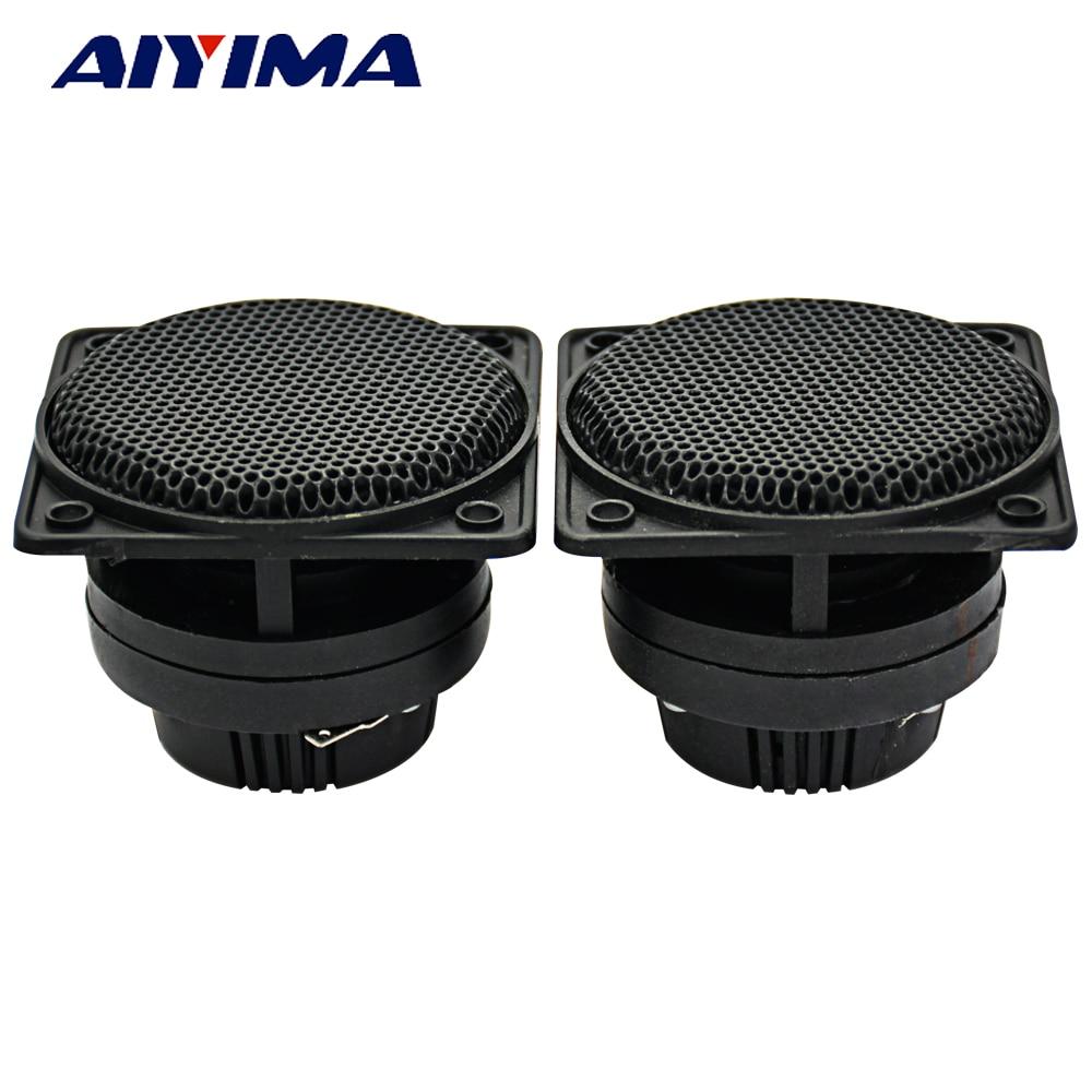 AIYIMA 2Pcs 2.5Inch Audio Speakers Tweeters LoudSpeakers Piezo Treble Speaker 50W Trumpet Treble Ceramic Piezoelectric Speaker