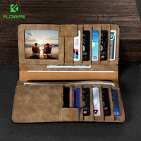 FLOVEME Wallet Case For Samsung S8 S7 S6 Edge Case Leather Pouch Bags For IPhone 6