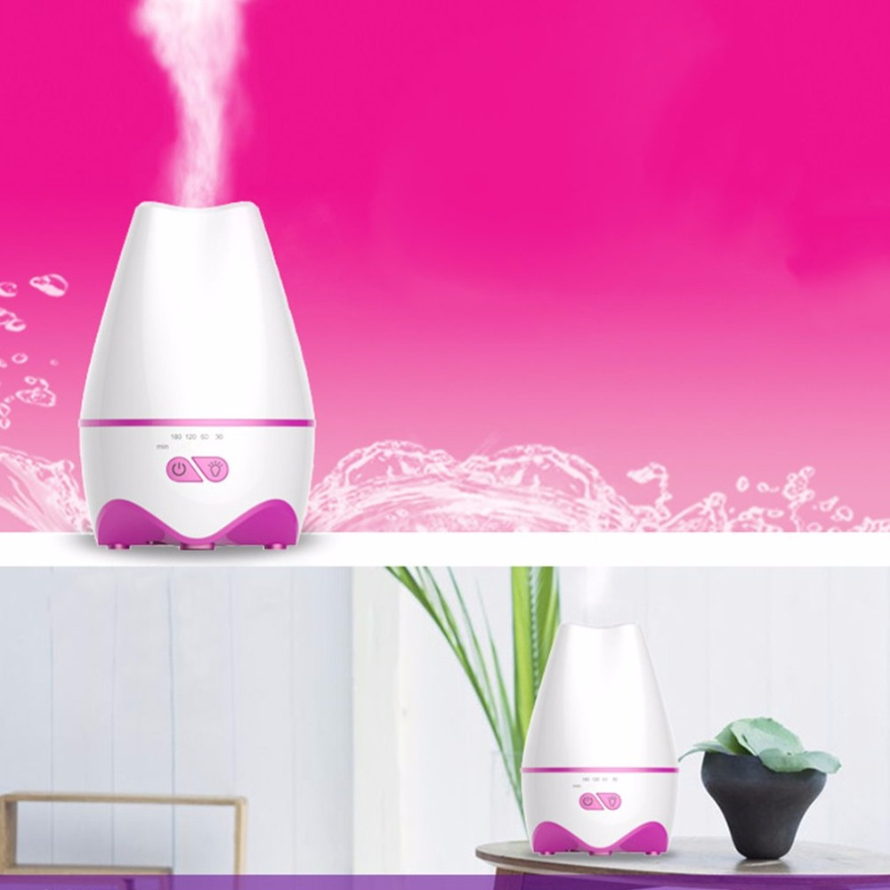 Ultrasonic Humidifier Whisper-quiet Aroma Diffuser With Colorful LED Lights the whisper