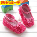 2013 spring and autumn baby shoes hot-selling rose multicolor baby shoes toddler shoes baby soft sole shoes 100% cotton