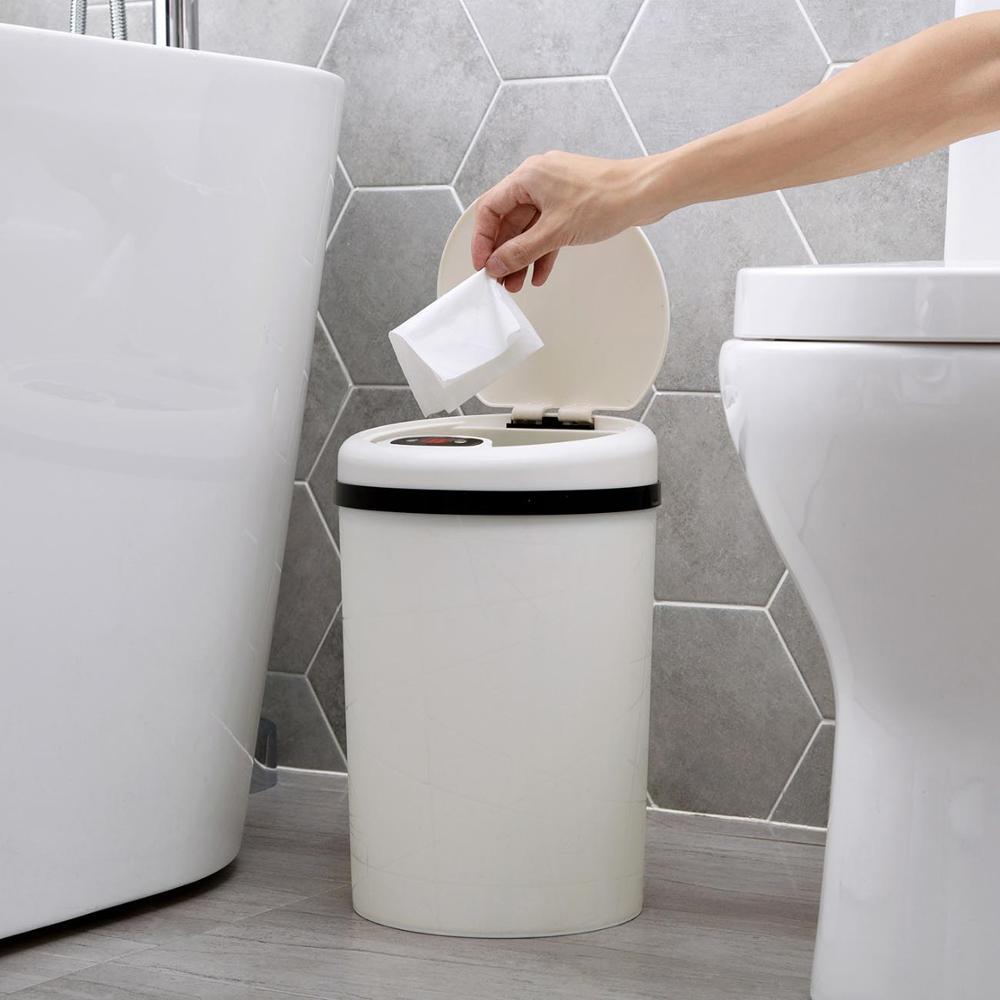 Image 5 - Large Automatic Sensor Dustbin Sensor Trash Can Induction Waste  Bin PP Plastic Eco friendly Dustbin Household Trash BinWaste Bins   -