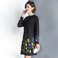Middle aged and elderly dress long long sleeved 2019 new size 40 year old 50 fashion mother spring and autumn women