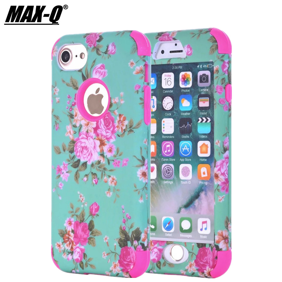 1fe00c0d316 Cheap Funda protectora de doble capa para iphone 6 carcasa de silicona para 6s  iphone 7
