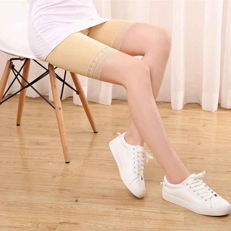 Güvenlik şort pantolon artı boyutu güvenlik pantolon baksır şort etek altında cepler ile güvenlik şort etek altında uyluk reşo dantel