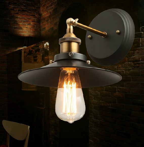 Art deco edison wall sconce sconce industrial lamp iron - Lampara industrial vintage ...
