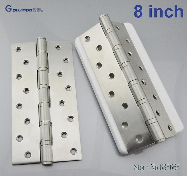8 Inch Stainless Steel Thicken Wooden Door Hinge Bearings Heavy Duty ...