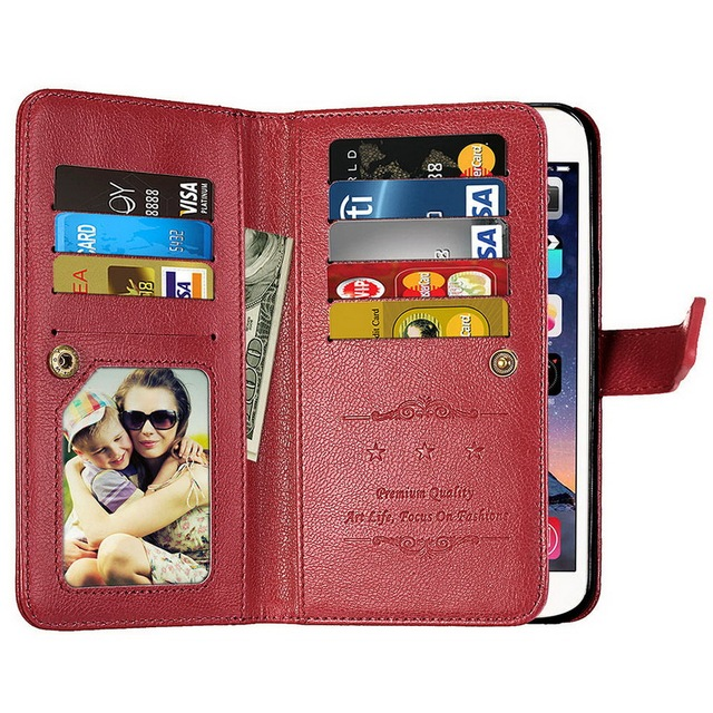 new concept ea5e3 1e712 US $7.99 35% OFF|LANCASE For Samsung A5 2017 Case 9 Credit Card Slot Wallet  Leather Cases For Samsung Galaxy A5 A3 A7 2017 Case A520 A720 A320-in ...