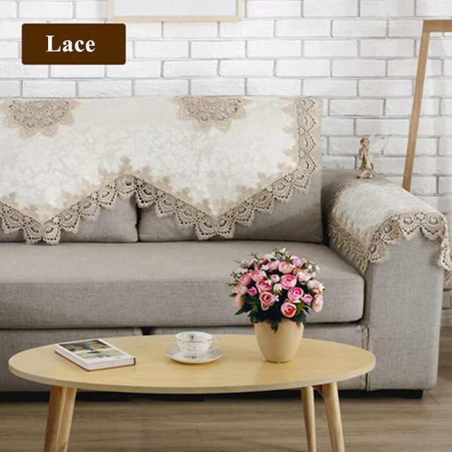 New European Style Sofa Towel Elegant Lace Sofa Cover Funda Fabric Cover Sofa  Couch Covers Towels
