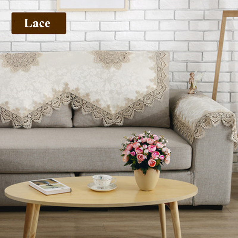 New European Style Sofa Towel Elegant Lace Sofa Cover Funda Fabric Cover  Sofa Couch Covers Towels Backrest Towel Armrest Cover