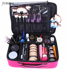 Makeup Bag Box Multilayer Cosmetic Waterproof Oxford Professional Case Organizer
