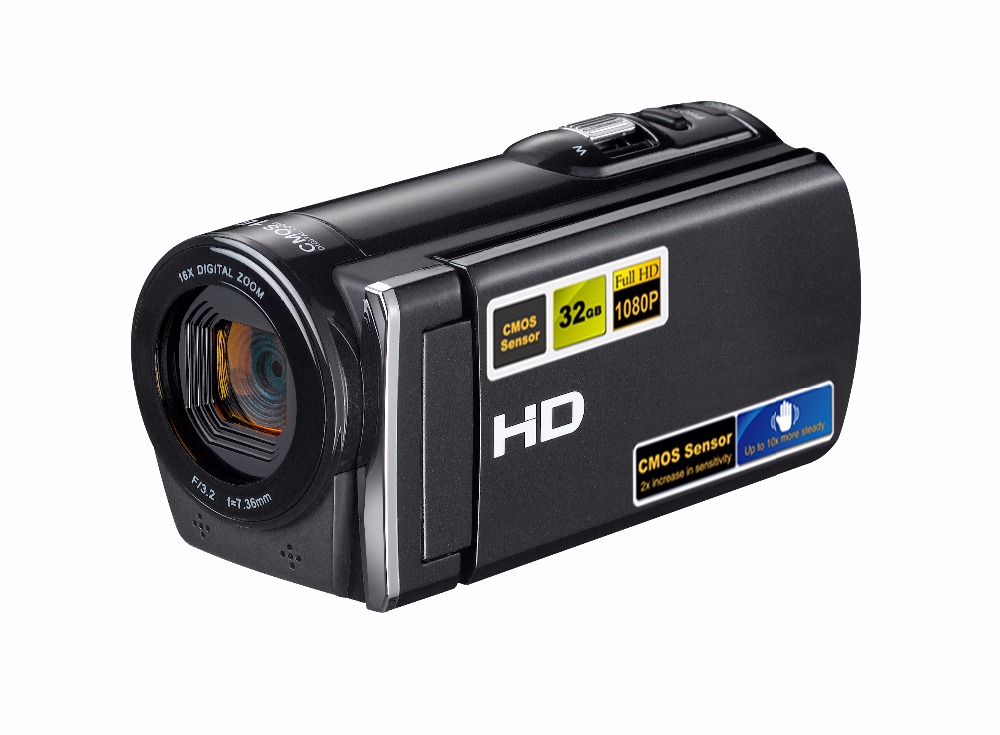 Professional High Quality FULL HD 1080P Digital Video Camera 16MP Camera Resolution With lithium battery Digtial Zoom HDV-601S 2017 new 20mp 8x optical zoom cheap digital camera quality digital camera 2 7 screen 720p hd video lithium battery
