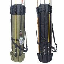 Bolsa organizadora de carretes de pesca con soporte para Bolsa de caña de pescar, bolsa de almacenamiento para pesca y viajes