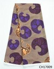 Colorful Digital wax pattern printed Chiffon Fabric beautiful real Fabrics for woman wedding CH17009