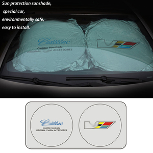Image 3 - for Cadillac Car Windshield Cover Automobile Sunshade Shield for Windshield Visor Cover Summer Front Window Windscreen Cover