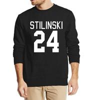Teen Wolf Stilinski Number 24 autumn winter 2016 new fashion sweatshirt men hoodies streetwear tracksuit harajuku clothing