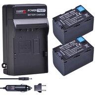 2Pcs 5200mAh SSL JVC50 JVC50 SSLJVC50 Camera Battery+Digital Wall Charger for JVC GY HM600 GY HM650 GY LS300 GY HMQ10 Camcorders