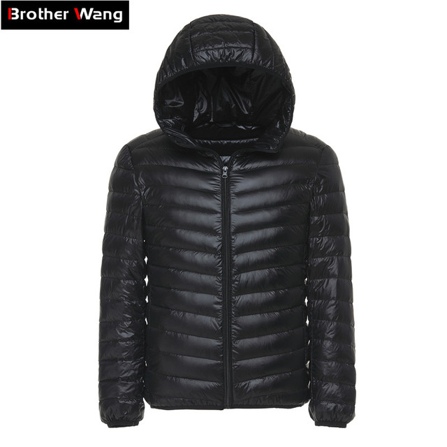 6 couleurs 2019 hiver hommes doudoune légère vêtements décontracté à capuche chaud blanc canard vers le bas manteau mâle marque vêtements