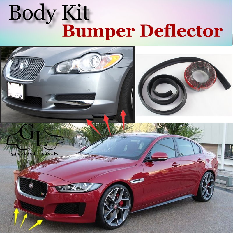 2015 Jaguar Prices: Bumper Lip Deflector Lips For Jaguar XE 2015 Front Spoiler