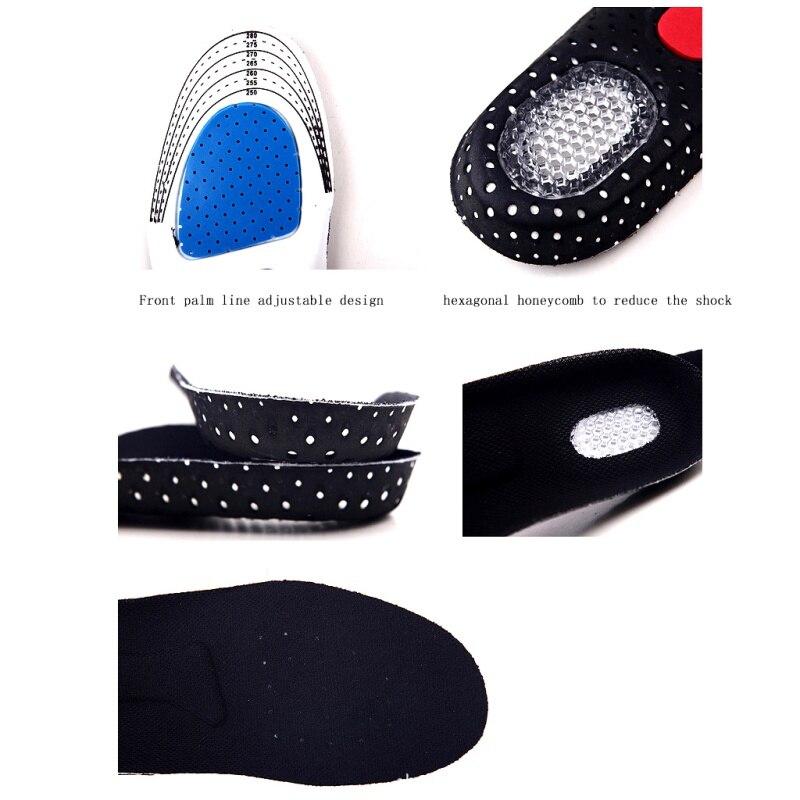 28.5*9.5 см Обувь колодки Силиконовые Мягкая стелька Спортивная обувь Pad унисекс Утолщение амортизацию Баскетбол Футбол