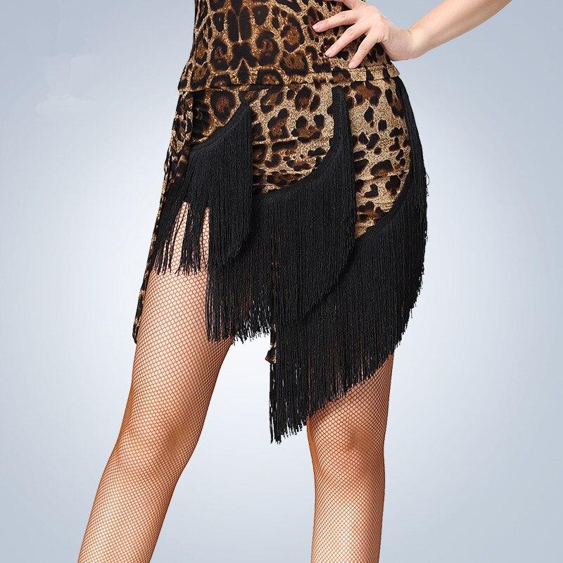 fbfc151c7 2018 New Sexy Desigual Mulheres Meninas moda Borla Saia Latina Franja Das  Senhoras Latina Ballroom Tango Salsa Desempenho trajes de Dança