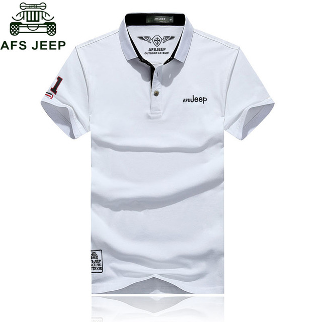 Afs Jeep Brand Polo Shirt Men Solid Slim Fit Breathable Polo Shirts Plus Size 3XL  Embroidery 2017 Fashion Camisa Polo Homme