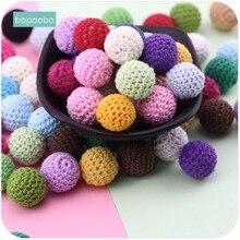 Bopoobo Baby Nursing Teething Crochet Beads 16mm 10pc Chewable Beads DIY Jewelry Nursing Accessories Toy Baby Teether