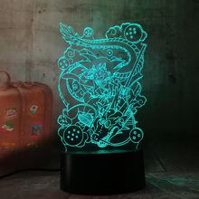 3D Lâmpada de Dragon Ball Z Goku Figura Bebê Nightlight Led Rgb Color Changing Room Decor Atmosfera Candeeiro de Mesa de Acrílico A Laser quarto(China)