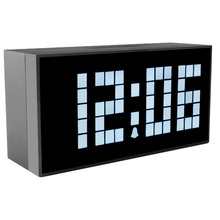 Free Shipping!  LED  Digital  +Thermometer+Calendar+  alarm  large atomic clock digital thermometer tes 1312a free shipping