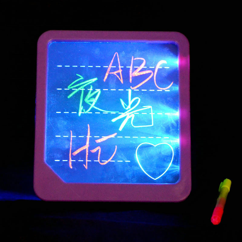 LED Light Fluorescent Writing Board Kids Electronic Luminescent Wordpad Message Board Handwriting Pad Children Toys Gift NSV775