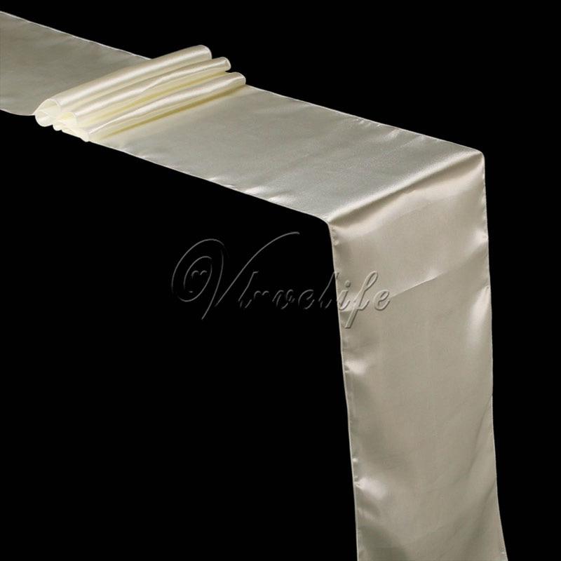 Free Shipping New Ivory Cream Satin Table Runner 12