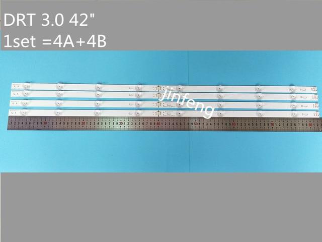 ชุดใหม่ 8pcs LED StripสำหรับLG LC420DUE 42LF652 42LB5500 INNOTEK DRT 3.0 42 นิ้วB 6916L 1710A 6916L 1709A